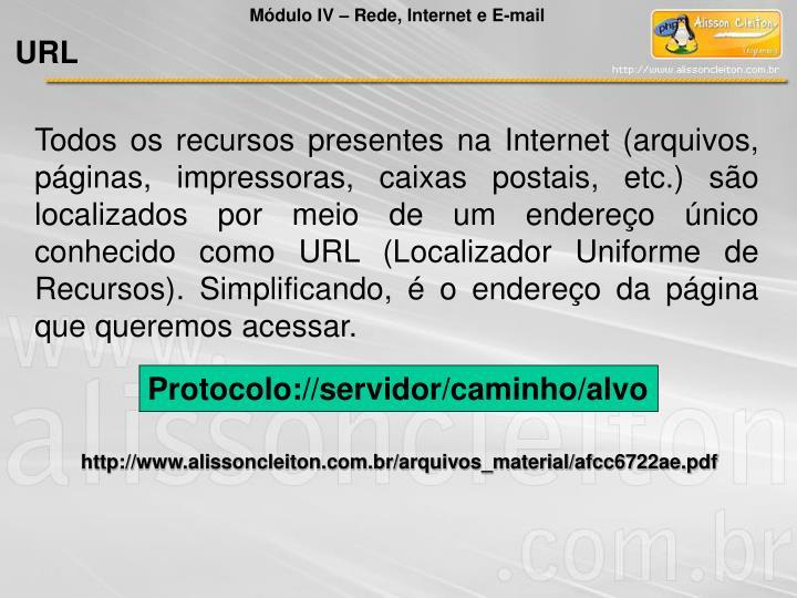 Módulo IV – Rede, Internet e E-mail