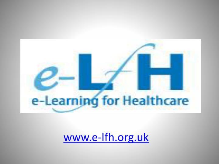 www.e-lfh.org.uk