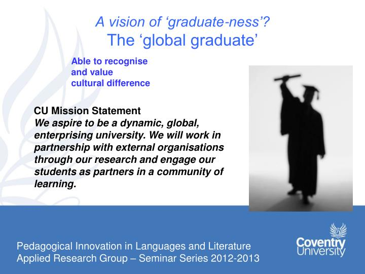 A vision of 'graduate-ness'?