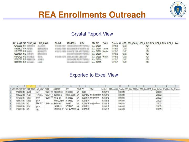 REA Enrollments Outreach