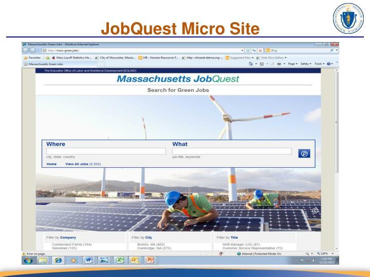 JobQuest Micro Site