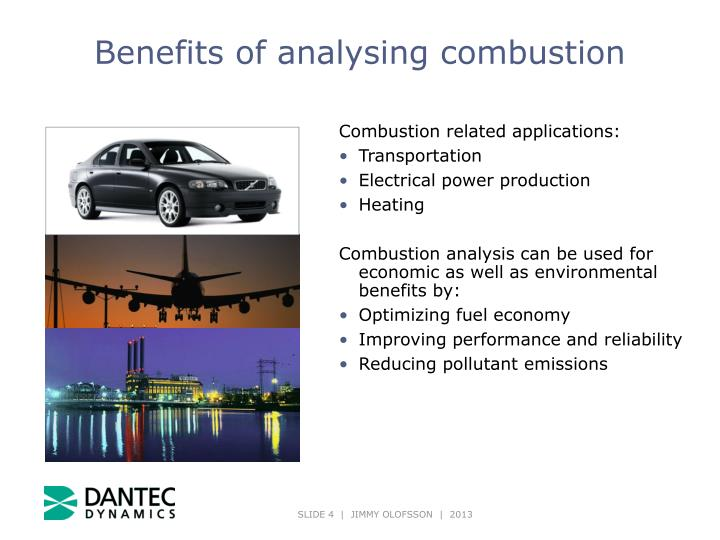 Benefits of analysing combustion