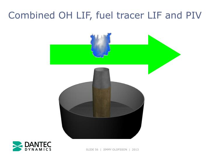 Combined OH LIF, fuel tracer LIF and PIV
