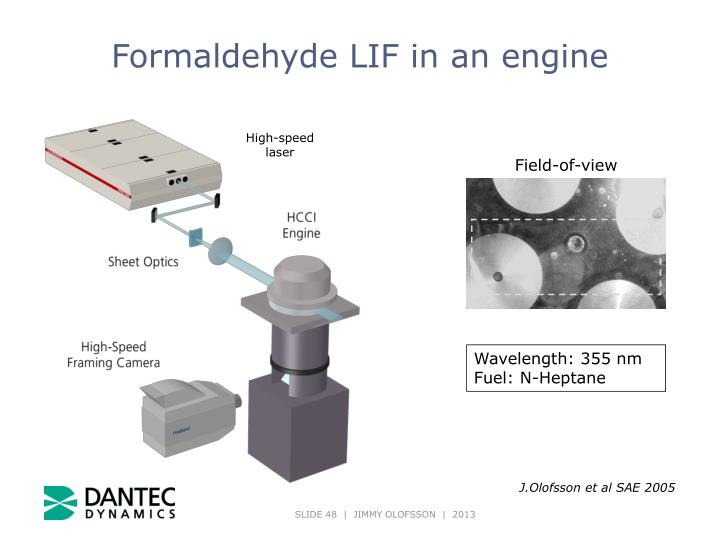 Formaldehyde LIF in an engine