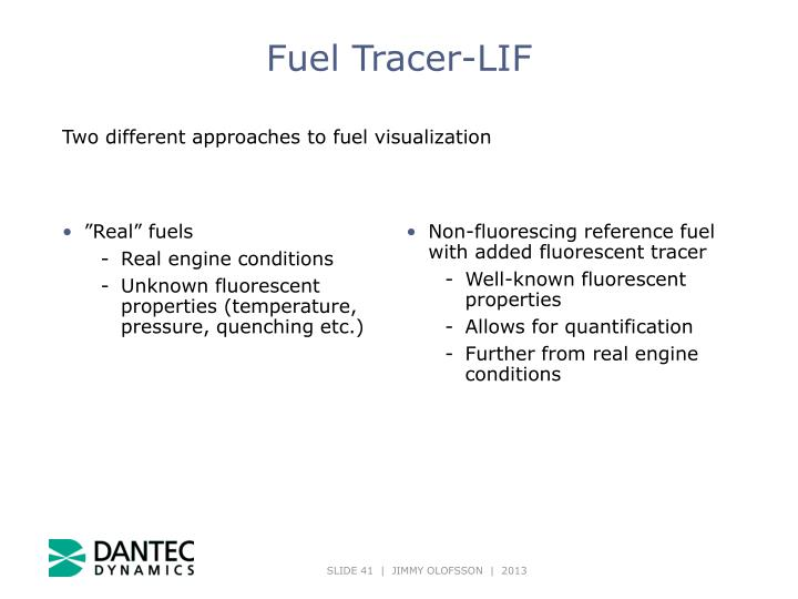 Fuel Tracer-LIF
