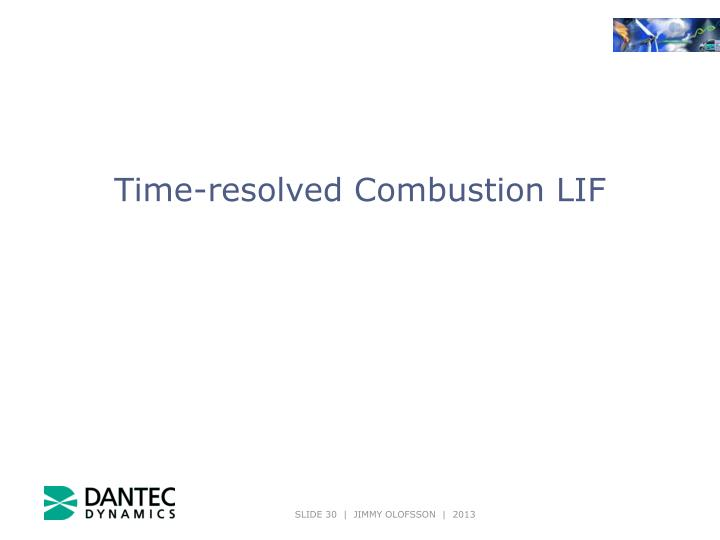 Time-resolved Combustion LIF