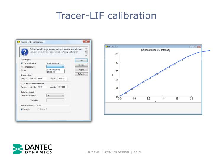 Tracer-LIF calibration