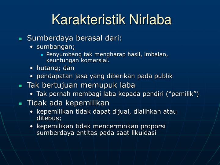 Karakteristik Nirlaba