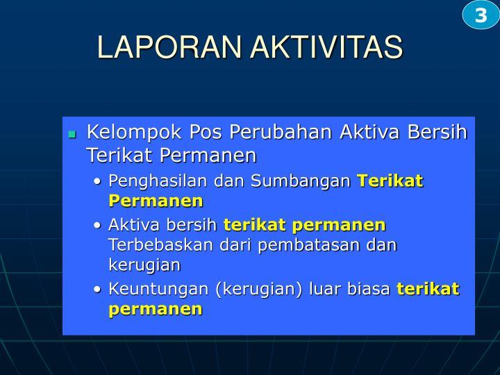 Kelompok Pos Perubahan Aktiva Bersih Terikat Permanen