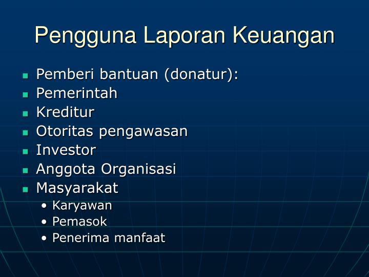 Pengguna Laporan Keuangan