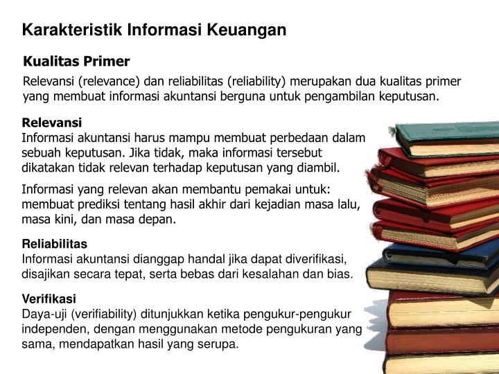 Karakteristik Informasi Keuangan