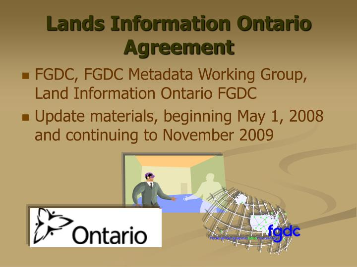Lands Information Ontario Agreement