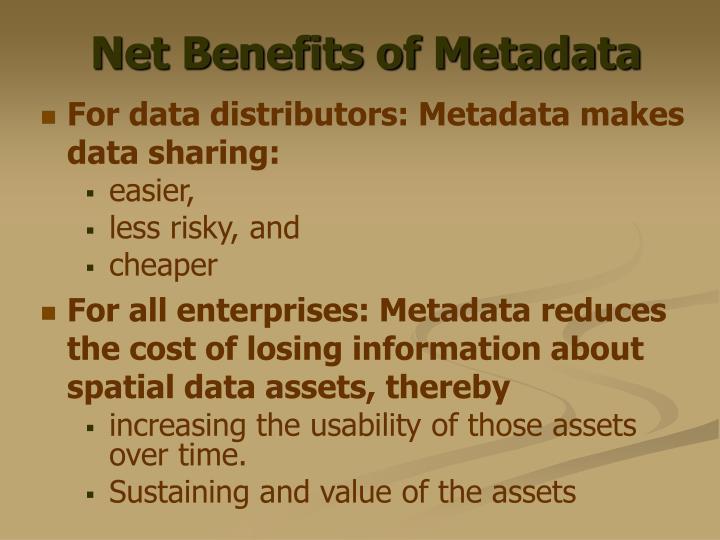 Net Benefits of Metadata