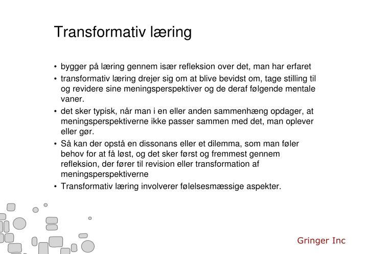 Transformativ læring