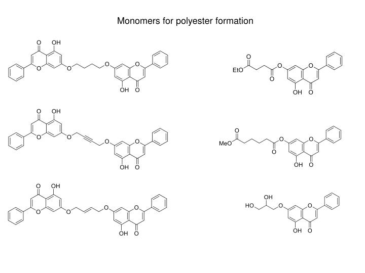 Monomers for polyester formation