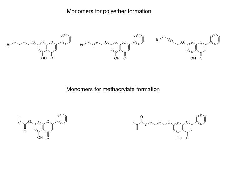 Monomers for polyether formation