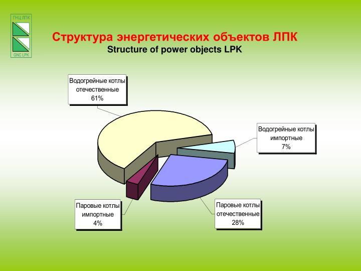 Структура энергетических объектов ЛПК