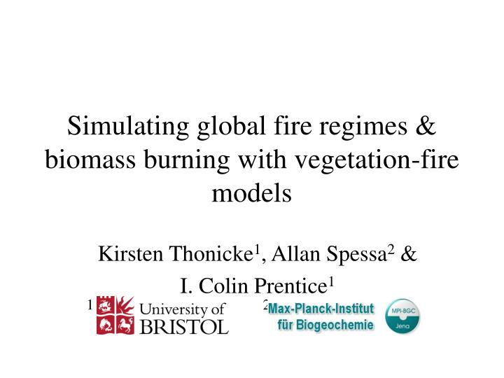 simulating global fire regimes biomass burning with vegetation fire models