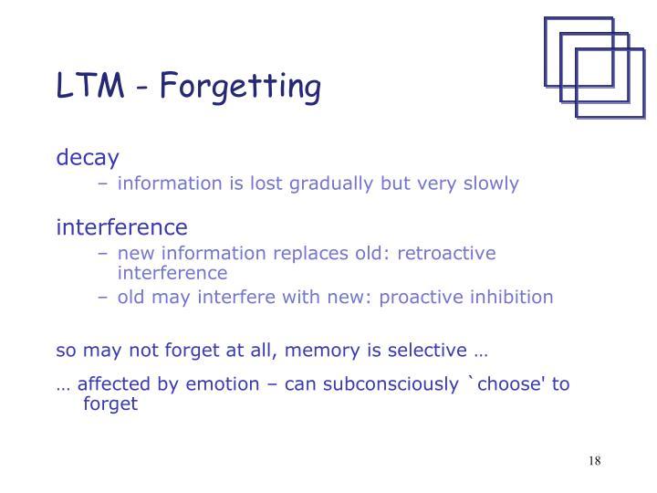 LTM - Forgetting