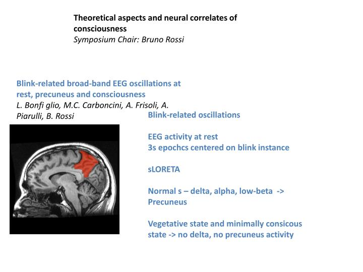 Theoretical aspects and neural correlates of consciousness