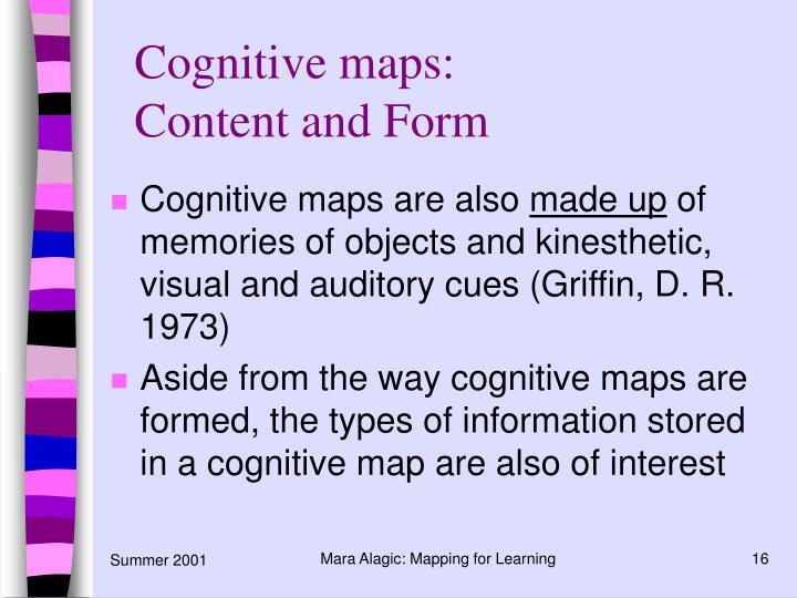 Cognitive maps: