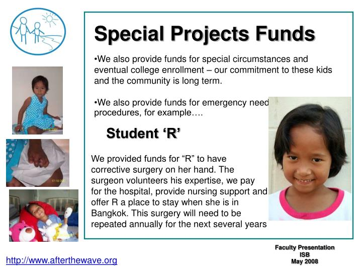 Special Projects Funds