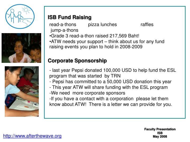 ISB Fund Raising