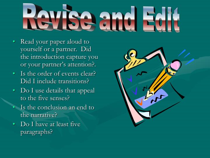 Revise and Edit
