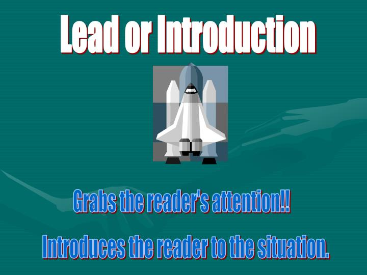 Lead or Introduction