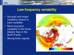 low frequency variability