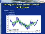 norwegian russian composite record running mean