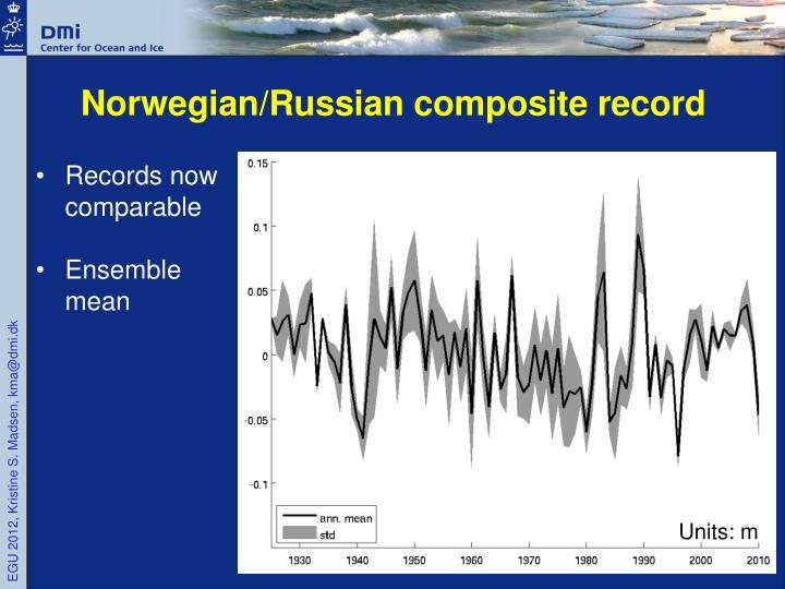 Norwegian/Russian composite record
