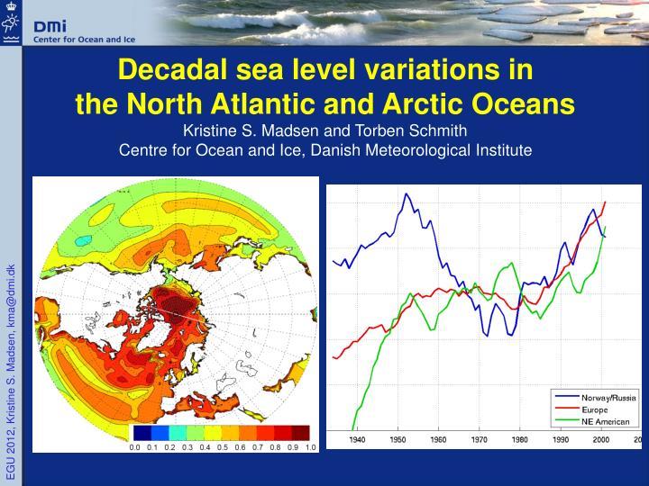 Decadal sea level variations in
