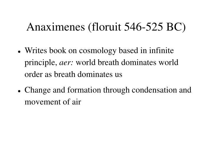 Anaximenes (floruit 546-525 BC)