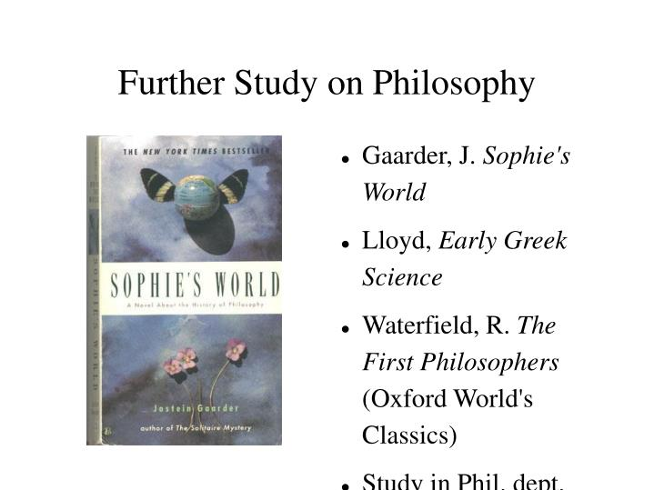 Further Study on Philosophy