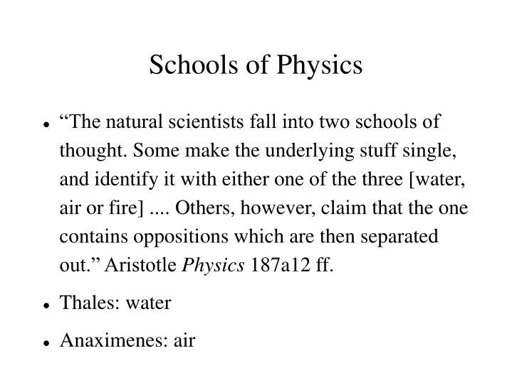 Schools of Physics