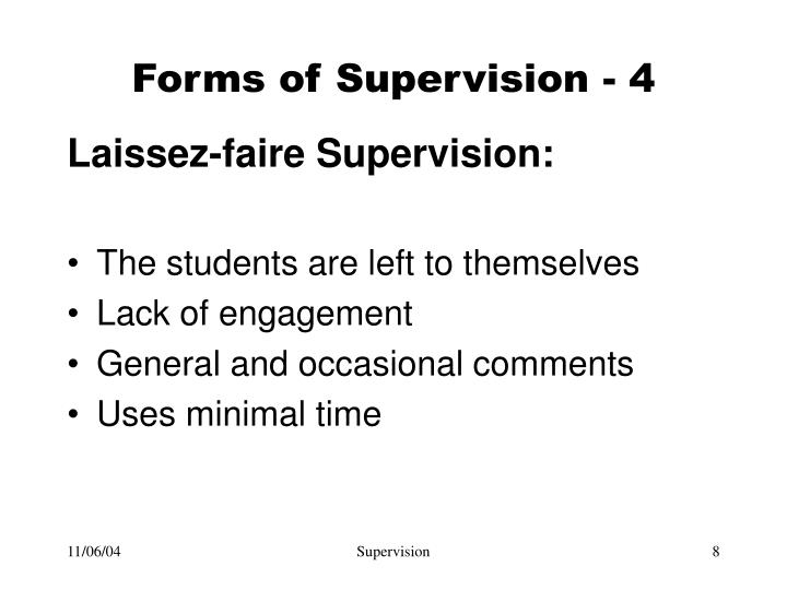 Forms of Supervision - 4