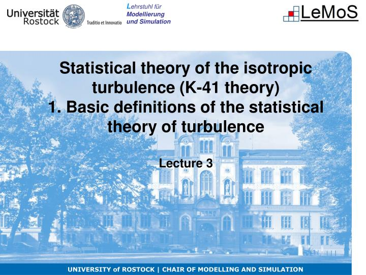 Statistical theory of the isotropic turbulence (K-41 theory)