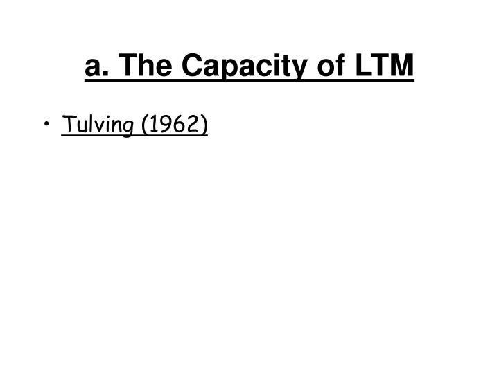 a. The Capacity of LTM