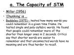 a the capacity of stm