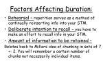 factors affecting duration