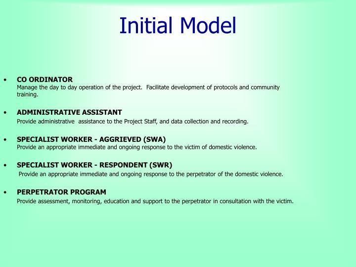 Initial Model