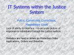 it systems within the justice system