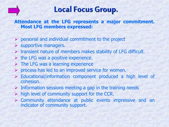 Local Focus Group.
