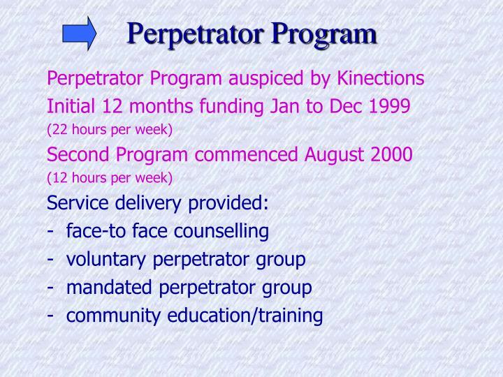Perpetrator Program