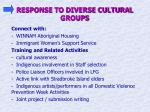 response to diverse cultural groups