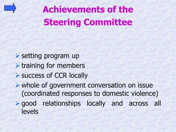 Achievements of the