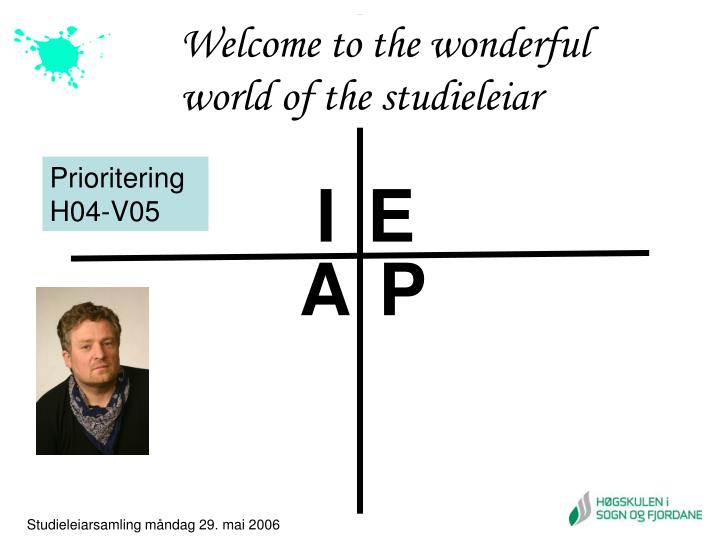 Welcome to the wonderful world of the studieleiar