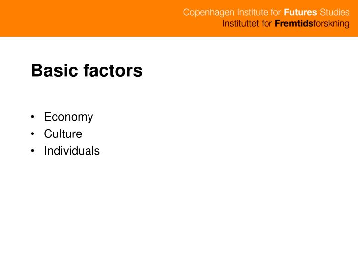Basic factors