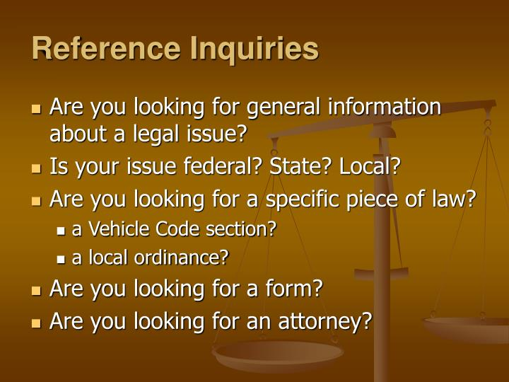 Reference Inquiries